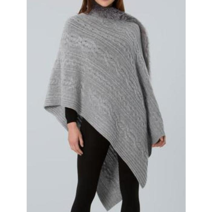 Cashmere Wrap w/Nat'l Flemmish Fox Trim