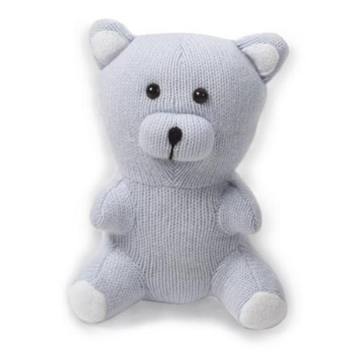 Cashmere Teddy Bear - Blue