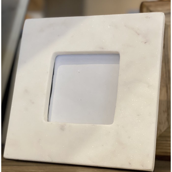 White Marble Frame 3.5x3.5