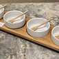 4 Bowls in a Line Serving Plate