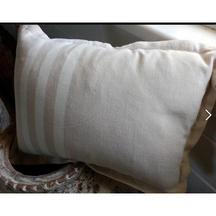 SUPER SOFT PETITE PILLOW COVER, beige with ecru stripes