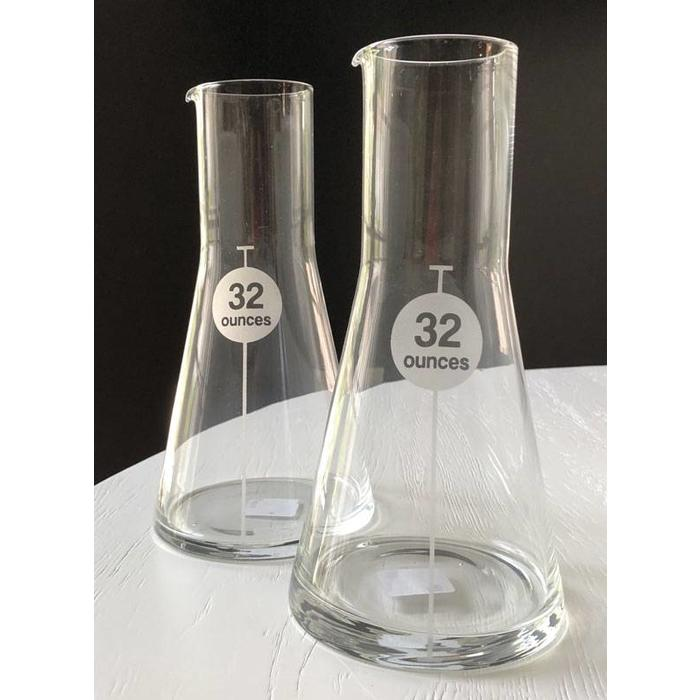 Glass Flask 32oz - Clear