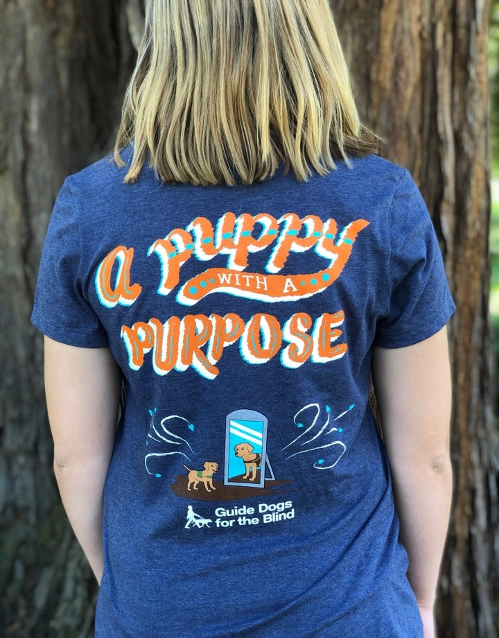 Women's Pup with Purpose V Neck Tee