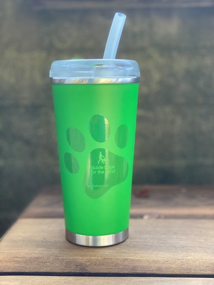 16.9 oz stainless steel tumbler - green