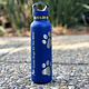 20oz insulated bottle with two lids and paw prints
