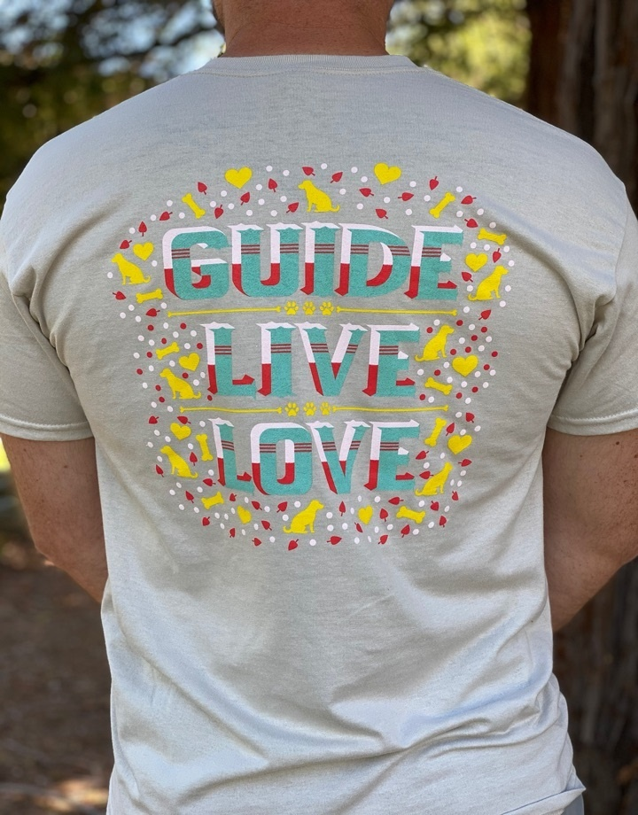 Men's Guide,Live, Love Crew Neck Tee