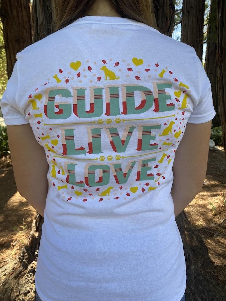 Women's Guide,Live, Love V Neck Tee