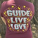 Women's Guide, Live, Love Crew neck Tee