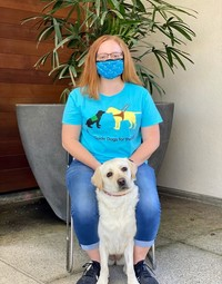 Women's Pup & Guide FRONT design tee