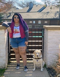 Women's Guide Dog Love LS Tee