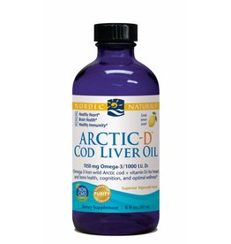 Nordic Naturals Arctic-D Cod Liver Oil 1060 mg Lemon 8oz