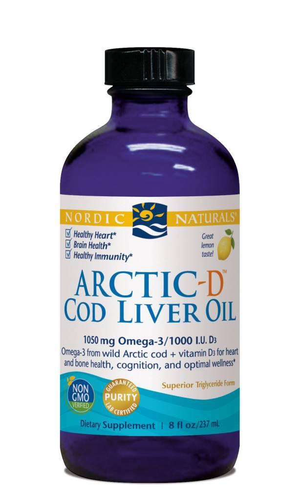 Nordic Naturals Nordic Naturals Arctic-D Cod Liver Oil 1050 mg Lemon 8oz