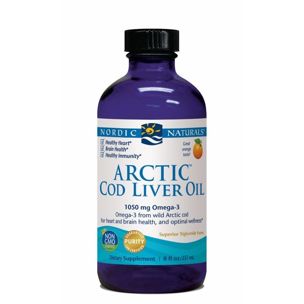 Arctic Cod Liver Oil 1060 mg Orange 8 oz