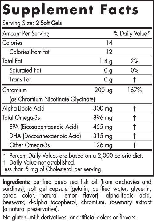 Nordic Naturals Nordic Naturals Omega Blood Sugar 896 mg 60 ct