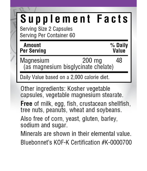 Bluebonnet Bluebonnet Chelated Magnesium 120ct