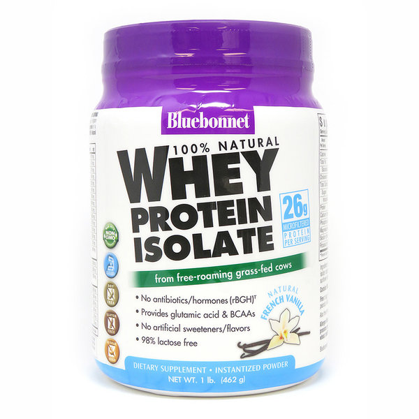 Whey Protein Isolate Powder Vanilla 1lb