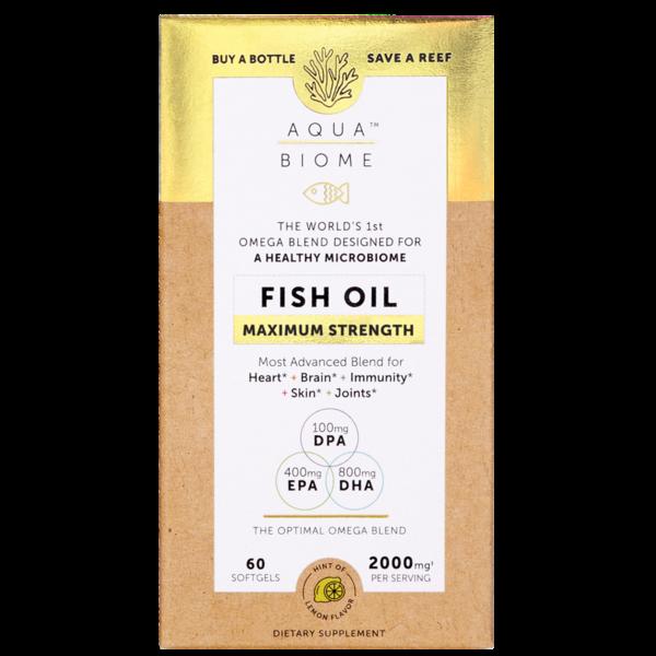 Aq Bio Fish Oil Maximum 2000mg 60ct