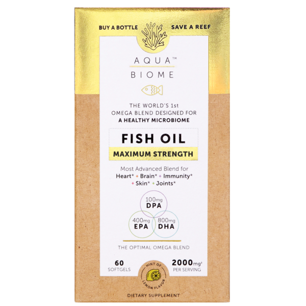 Aqua Biome Fish Oil Maximum 2000mg 60ct