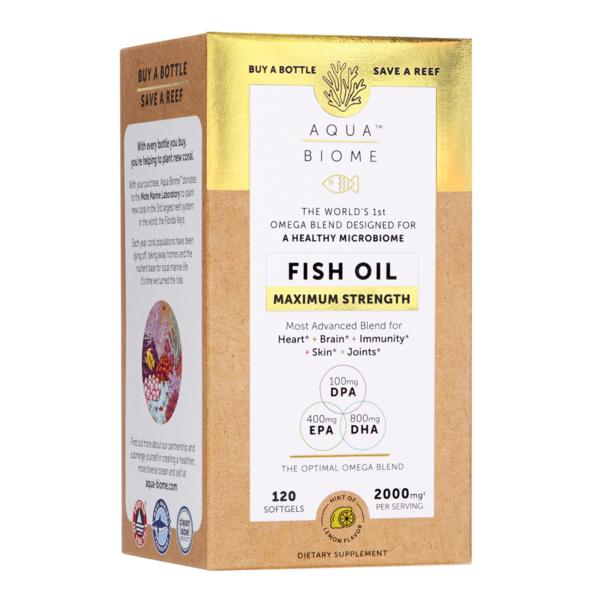 Aqua Biome Fish Oil Maximum 2000mg 120ct