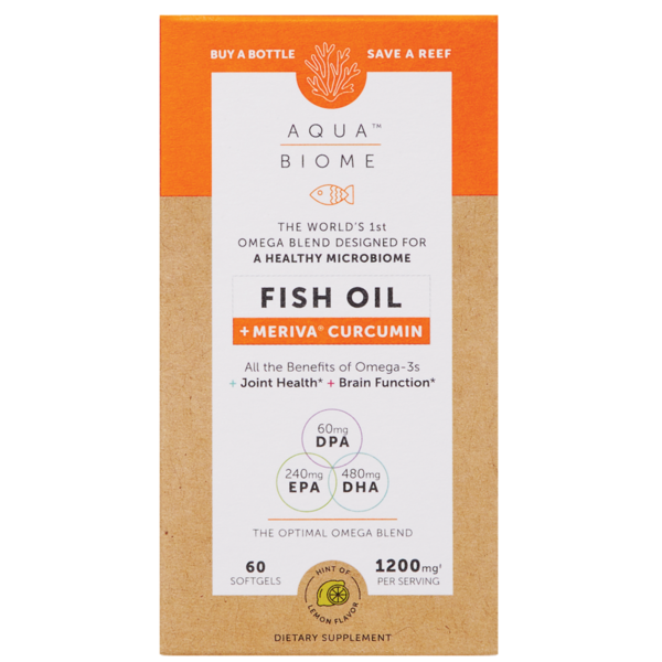Aqua Biome Fish Oil Meriva 1200mg 60ct