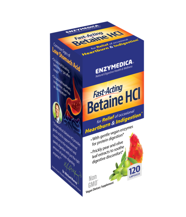 Enzymedica Enzymedica Betaine HCI 600mg 120ct