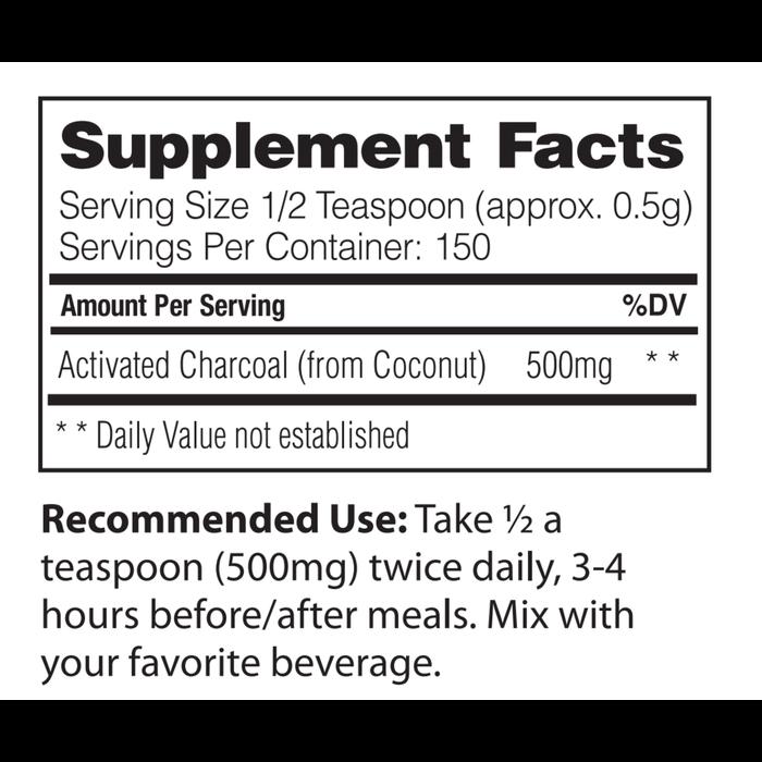 Enzymedica Enzymedica Coconut Charcoal 150 servings
