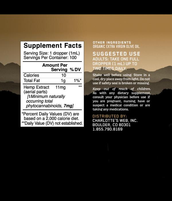 Charlotte's Web CW Hemp Full Strength Olive Oil 3.38oz
