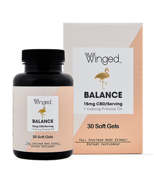Winged CBD Balance 15mg Softgels 30ct