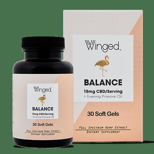 Winged Winged CBD Balance 15mg Softgels 30ct