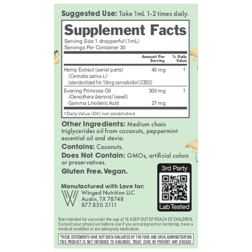 Winged Winged CBD Balance 300mg Peppermint