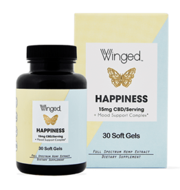 Winged CBD Happiness 15mg Softgels 30ct