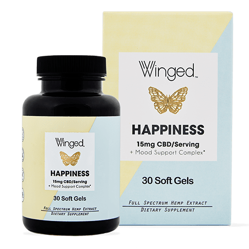Winged Winged CBD Happiness 15mg Softgels 30ct
