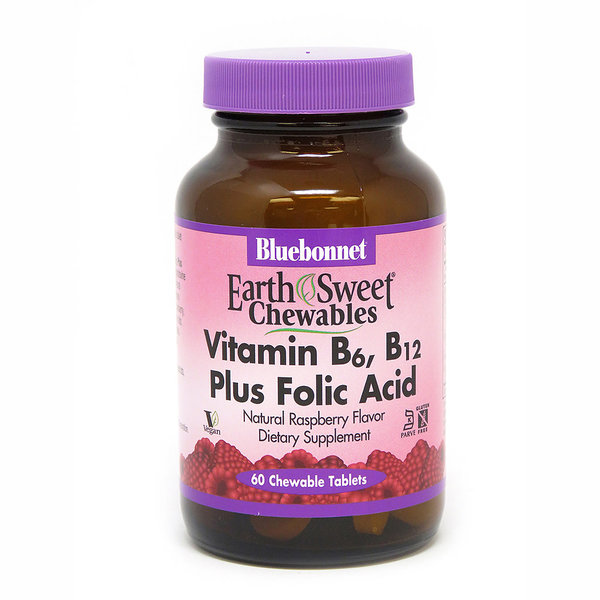 Chewable Vitamin B6, B12 + Folic Acid 60ct