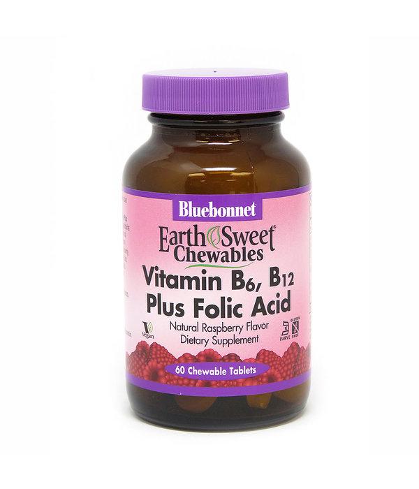 Bluebonnet Bluebonnet Chewable Vitamin B6, B12 + Folic Acid 60ct