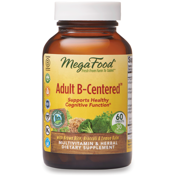 MegaFood Adult B-Centered 60ct