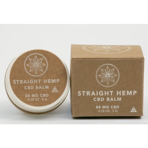 Straight Hemp 88mg CBD balm .18oz