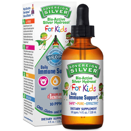 Sovereign Silver Bio-Active Silver Hydrosol Kids Dropper 2oz
