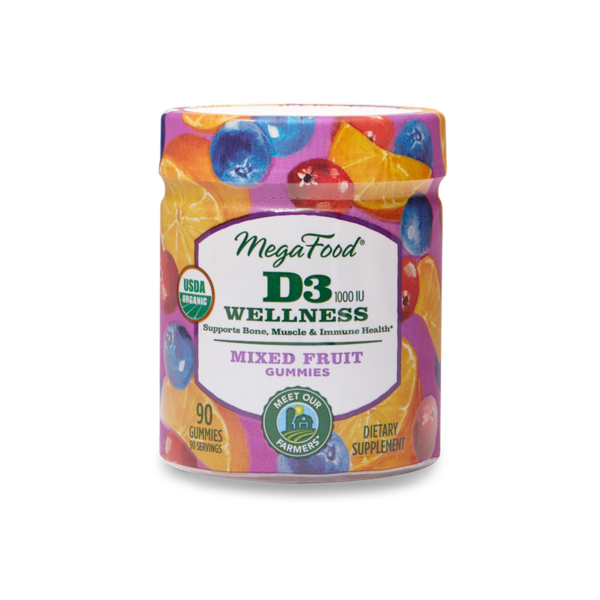 D3 Mixed Fruit Wellness Gummy 90ct