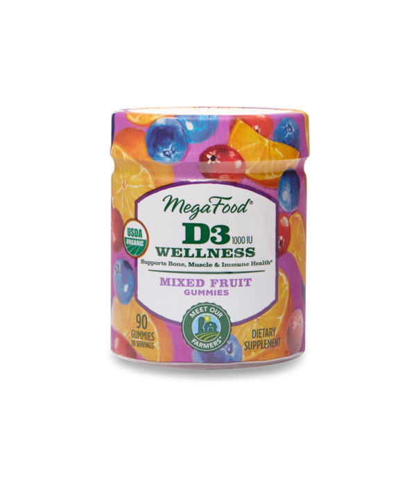MegaFood MegaFood D3 Mixed Fruit Wellness Gummy 90ct