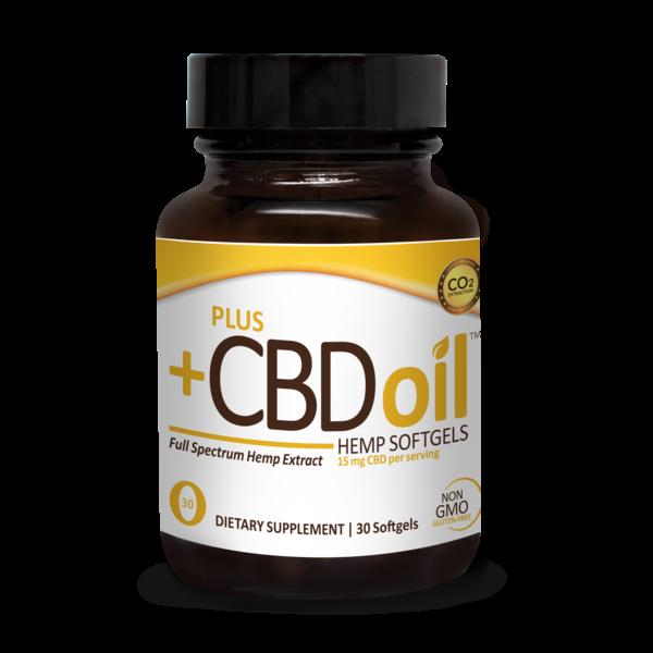 PlusCBD Gold Softgels 15 mg 30ct