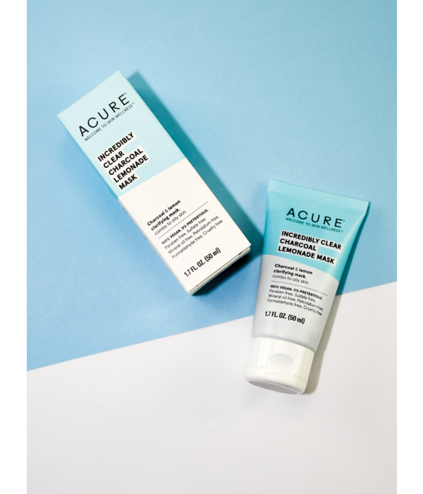 Acure Acure Incredibly Clear Charcoal Lemonade Cleansing Clay 4oz
