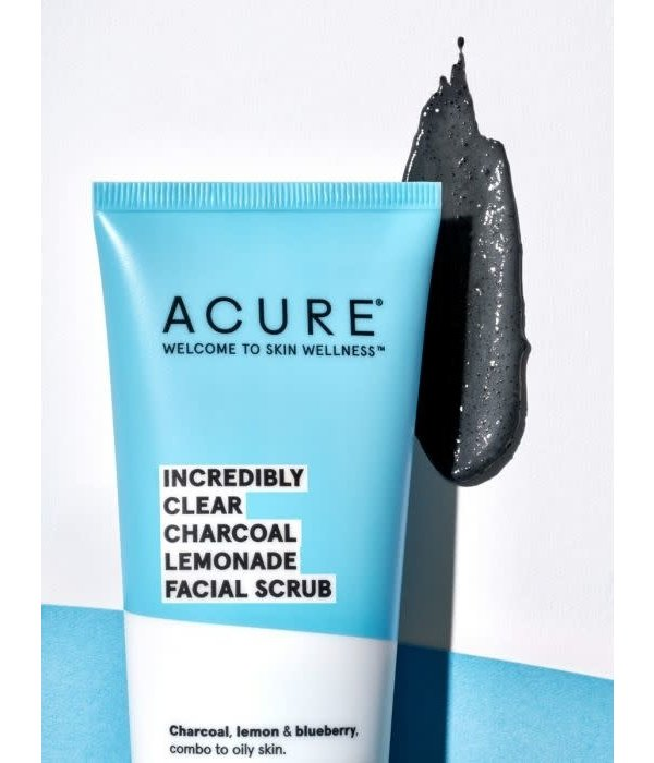 Acure Acure  Incredibly Clear Charcoal Lemonade Facial Scrub 4oz