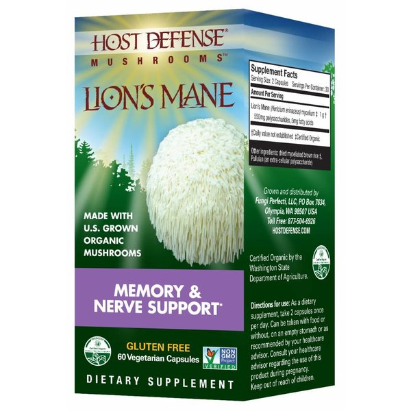Lion's Mane Memory & Nerve Support 60 ct