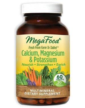 MegaFood Calcium, Magnesium & Potassium 60 ct