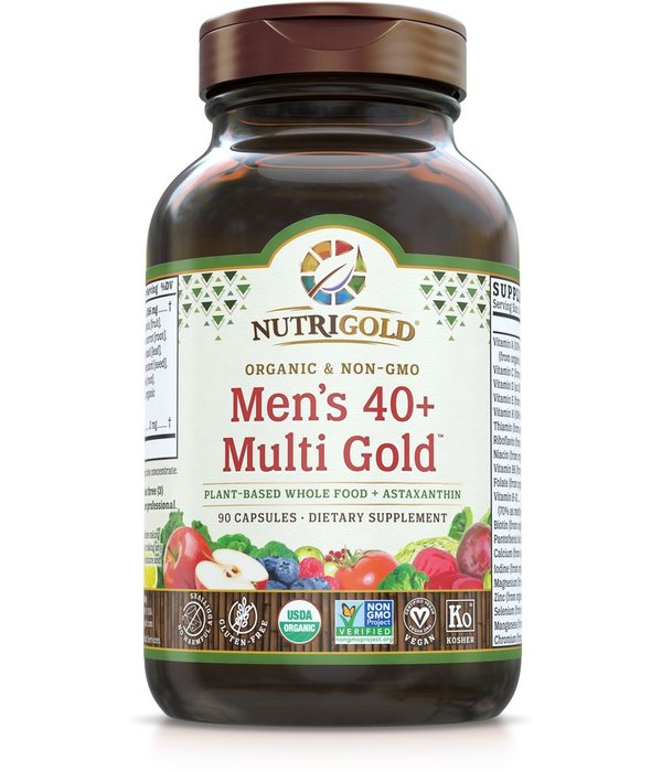 Nutrigold Men's 40+ Organic Multivitamin 90ct