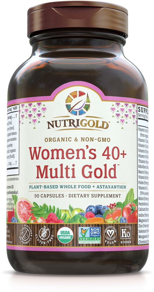 Nutrigold Women's 40+ Organic Multivitamin 90ct