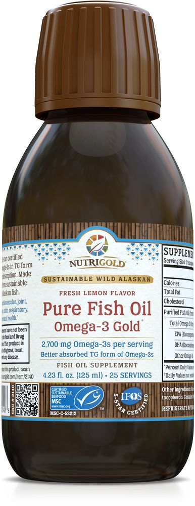 Nutrigold Pure Fish Oil Liquid 2700mg 125ml