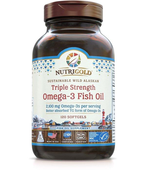 Nutrigold Triple Strength Omega-3 2100mg 120ct