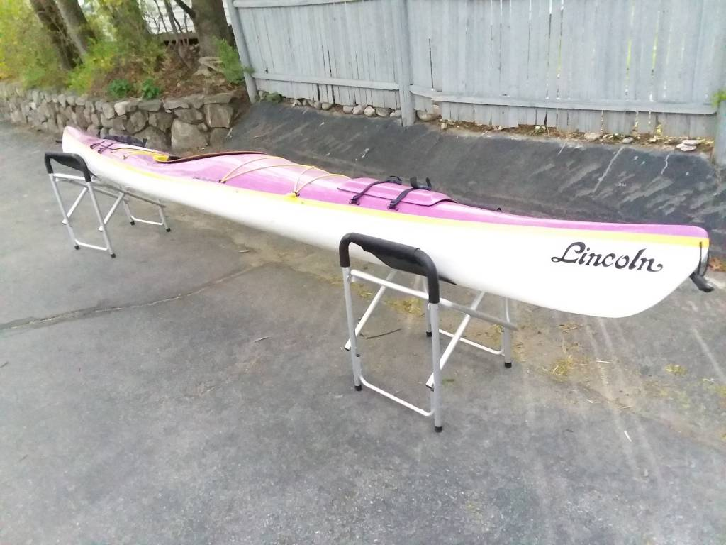 "Lincoln Canoe & Kayak Chebeague Purple/Yellow/White, ""Used"""