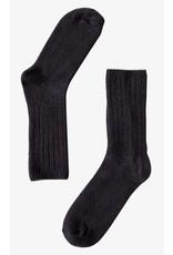 Bonnetier Black Merino Wool Socks B0012